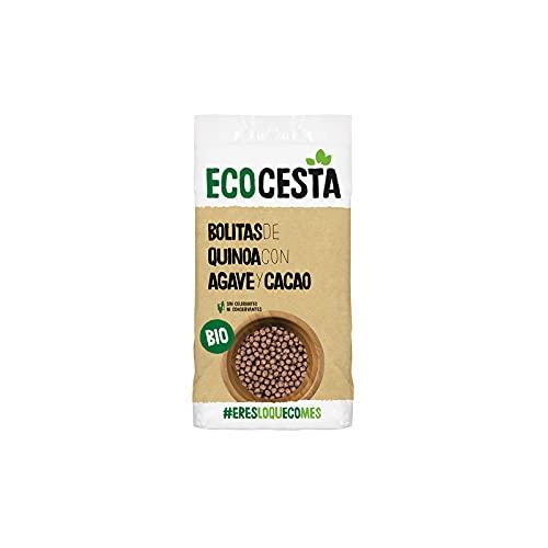 Ecocesta Bolitas Ecológicas de Quinoa, Agave y Cacao Aptas para Veganos (300g)