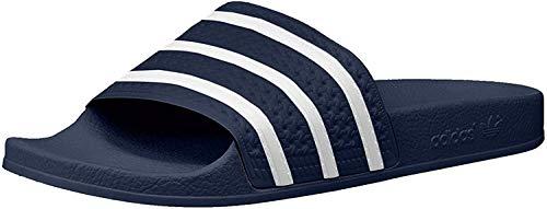 adidas Originals Men's Adilette Slide Sandals, Adidas Blue/White/Adidas Blue, (10 M US)
