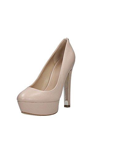 Guess Plateau-Schuhe Pumps stylische Damen Echtleder High Heels Absatz-Schuhe Abend-Schuhe Beige, Größe:41