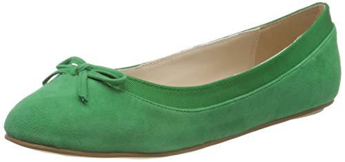 Buffalo Damen ANNELIE Geschlossene Ballerinas, Grün (Green 001), 39 EU