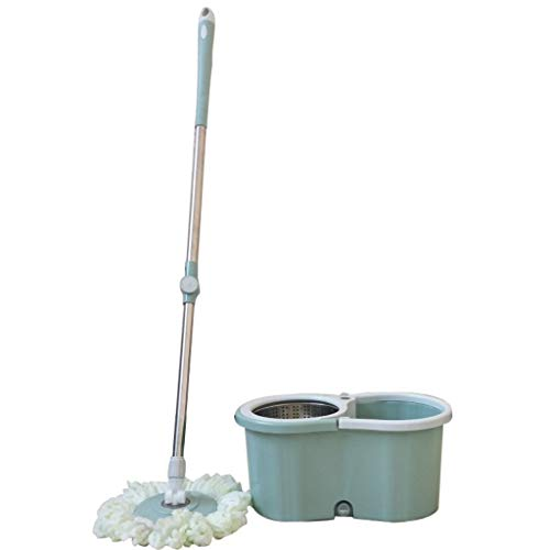 Buy 360 ° Rotating Mop - Quick Cleaning System, Hand Pressure Stainless Steel Double Telescopic Rod...