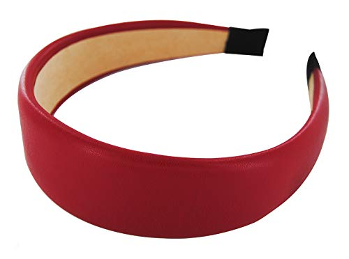 axy HR27C Classic Vintage Leder Haarreif SERIE 27C Leather Hair band (Rot)