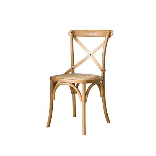UNU_YAN Modernes Design Amerikanische Land-Art Solid Oak Holz Klassisch Kreuz Stuhl, Antik Sitz spinnt White Oak Holz Kreuz Dining Chair Modern Dining Chairs