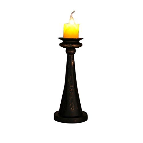 AJZGF Lampe de table décorative Bougie en fer forgé lampe de table LOFT américain rétro vintage café industriel bar restaurant créatif chambre lampe de chevet Lampe de table
