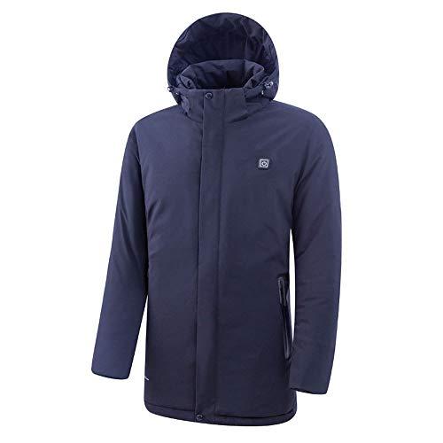 Geklimatiseerde jas voor intelligente heren, elektrisch, verwarmt de jas, elektrisch, warm vest, USB-jas, voor mannen in de open lucht.