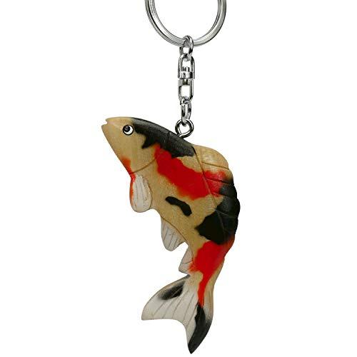 Koi Fisch Nishikigoi Karpfen * Schlüsselanhänger aus Holz