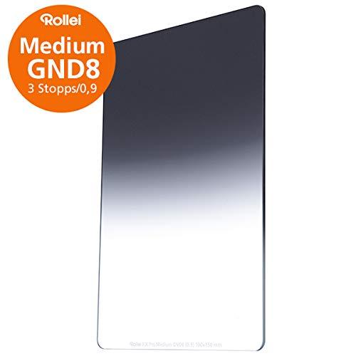 Rollei F:X Pro Verlaufsfilter Medium GND 8 I 100mm Rechteckfilter aus Gorilla-Glas mit Luminance Coating I Ideal für Motive mit unklarer Horizontlinie
