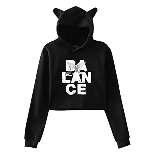 Armin Van Buuren Balance Mujer Sudadera con Capucha de Manga Larga Suéter con Estampado de Orejas de Gato Lindo