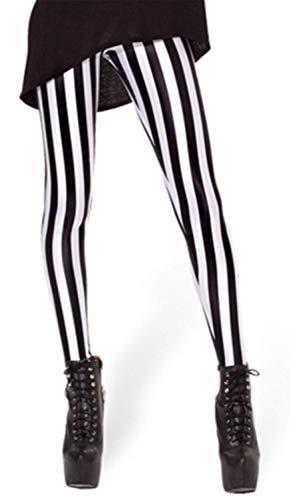Tamskyt, digital bedruckte, enganliegende Leggings für Damen mit Einhornmuster, dehnbar, für Workout geeignet Gr. One size , gestreift