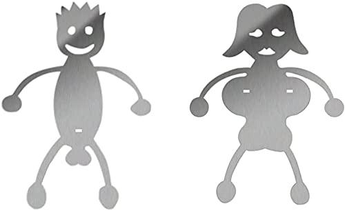 LZLZ Edelstahl Hot Dog/Marshmallow Röster, Kreative Frauen & Männer geformte Lagerfeuer Bratspieß Stick Passend für Camping Lagerfeuer Grillen Grill (Weiblich+männlich)