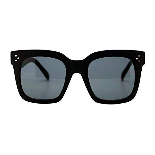 Womens Oversized Fashion Sunglasses Big Flat Square, Matte Black, Size One Size