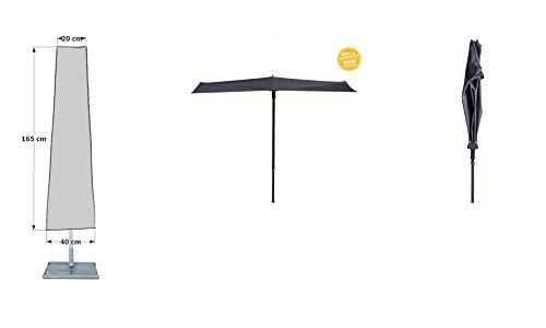 Grasekamp kwaliteit sinds 1972 beschermhoes 165 cm parasols tot Ø300 cm zwart droogmolen beschermkap afdekzeil