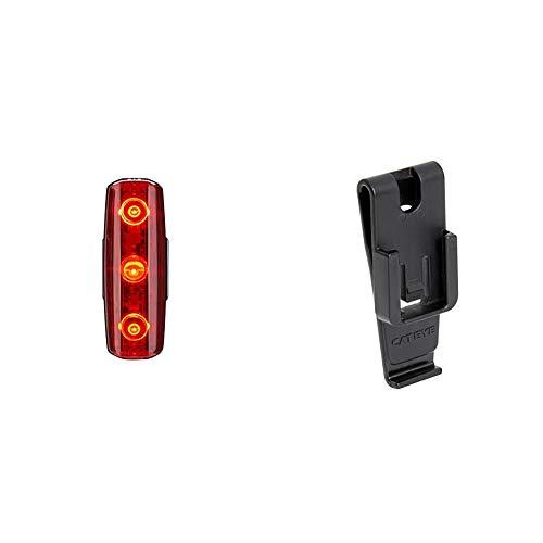 CatEye CA475RAPMIC Rapid Micro Rear Lights and Reflectors, Cycling - Black & C2 Belt/Bag Clip for Front/Rear Safety Li 534-2460 Cycling Lights and Reflectors - Black