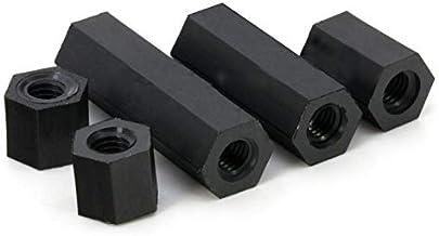 TREW 50pcs / lot Nylon Standoff Spacer Vrouw Vrouw witte en zwarte kleur M2 M2.5 M3 M4 Nylon hex spacer Nylon moer Nylon s...
