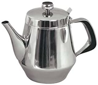 Stainless Steel Gooseneck Tea Pot w/Vented Hinged Lid, 32 Fluid Ounces (4-5 Cups) by Pride Of India