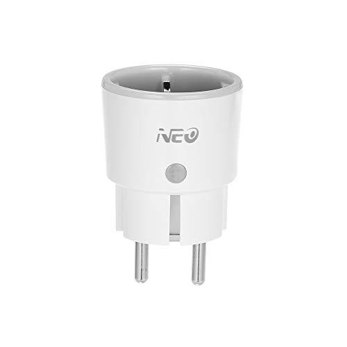 Neo Enchufe de Inteligente con Función de Temporización, Control Remoto, Control de Voz Compatible con Amazon Alexa y para Google Home IFTTT