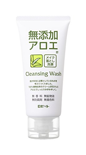 ROSETTE | Cleansing Wash | Additive Free Aloe Facial Washing Foam 120g (japan import)