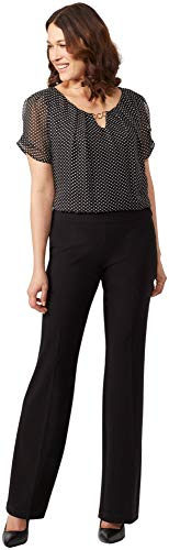 Dressbarn Women's Roz & Ali Secret Agent Pull On Tummy Control Pants Dress Black