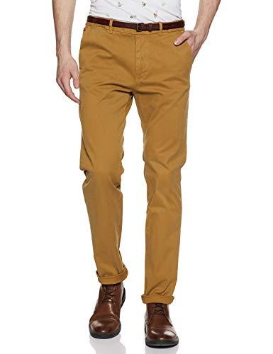 Scotch & Soda Herren NOS Stuart - Slim fit Cotton/elastan Garment Dyed Chino Pant Hose, Braun (Walnut N1), 32W / 32L