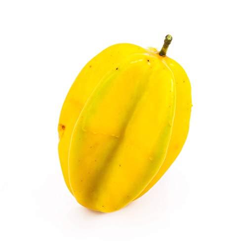 artplants.de Set 5 x Künstliche Sternfrucht Fria, gelb-grün, 10cm, Ø7cm - Künstliche Früchte
