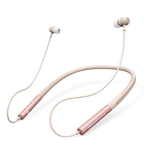 Energy Sistem Earphones Neckband 3 Bluetooth Rose Gold (Auriculares inalambricos, Neckband, intrauditivo,con unión magnética, batería Recargable) Rosa