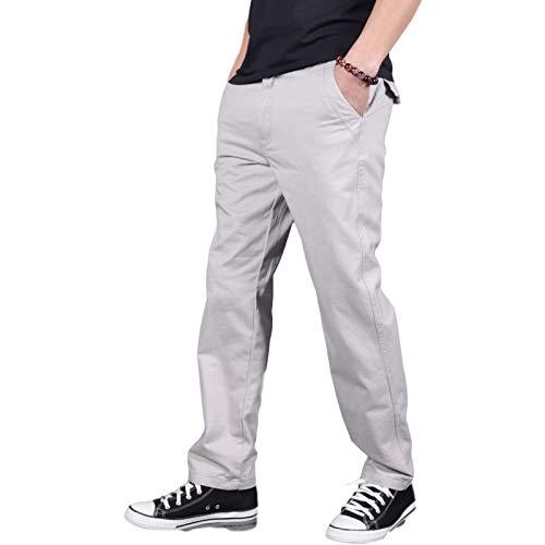 Pantalones de Pierna Recta para Hombre Color sólido Corte Holgado Talla Grande Cómodo Clásico Básico Todo-fósforo Pantalones Cargo Casuales Medium