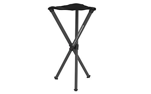 Walkstool - Modell Basic - Schwarz- Camping Klapphocker aus Aluminium - Höhe 50 bis 60 cm - Klapphocker Faltbar, Campingstuhl 150 kg bis 175 kg Maximal-Last - Hergestellt in Schweden