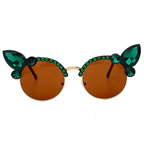 ShZyywrl Gafas De Sol De Moda Unisex Gafas De Sol Vintage para Mujer, Gafas De Sol con Forma De Ojo De Gato, Gafas De Sol Punk De Cristal para Hombre, Sombras