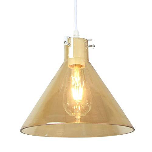 Hanglamp restaurant eenvoudige creatieve persoonlijkheid ingenieurs hanglamp barnsteen glas trechter enkele kop