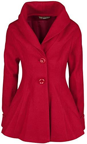 Belsira Premium Vintage Blazer Korte jas rood XXL
