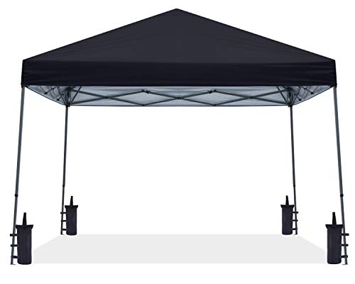 ABCCANOPY 3x3M Pop Up Pavillon Tragbare Instant Shelter Outdoor Canopies Bonus Rolltasche,Schwarz