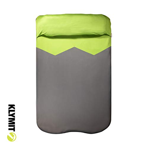 Klymit V Sheet Double Sleeping Pad Cover, Green/Grey, One Size (13PCGRDVE)