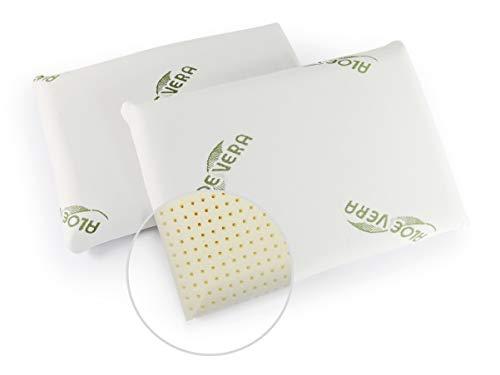 GIU.NE® Almohada para bebé con memoria de forma, 100% lavable, antiasfixia, de seguridad, para cuna, hipoalergénico, color blanco, dimensiones: 60 x 40 x 9 cm