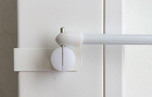 dekondo 2X Fensterhaken/Dekohaken für Gardinenstangen/Vitragenstangen/Scheibengardinen (sowohl seitlich als auch Oben zu befestigen) (15-20mm Fensterdicke, Weiß)