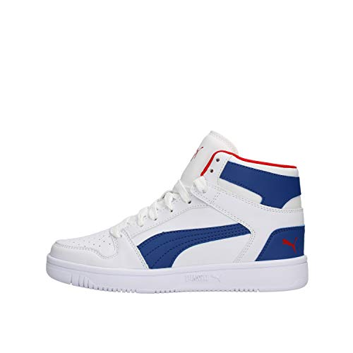 PUMA Rebound Lay Up SL Youth Sneaker White-Galaxy Blue-Red UK 4.5_Youth_FR 37.5