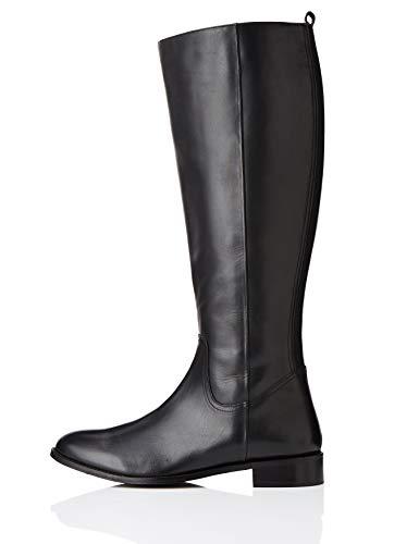 find. Flat Knee Length Leather Stivali Alti, Nero Black), 36 EU