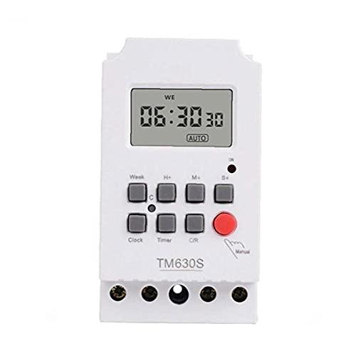 Interruptor temporizador TM630S-2 de alta potencia de 220V segundo temporizador programable de control LCD Digital Circuit Controler, Switch