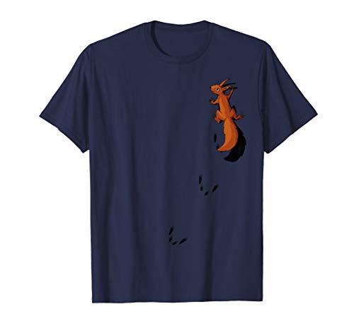 Nagetier mit Spuren | kletterndes Eichhörnchen T-Shirt