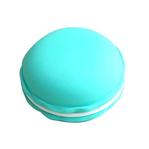Funytine Aufbewahrungsbox für Halskette, Ohrringe, Schmuck, Makronenform blau/grün