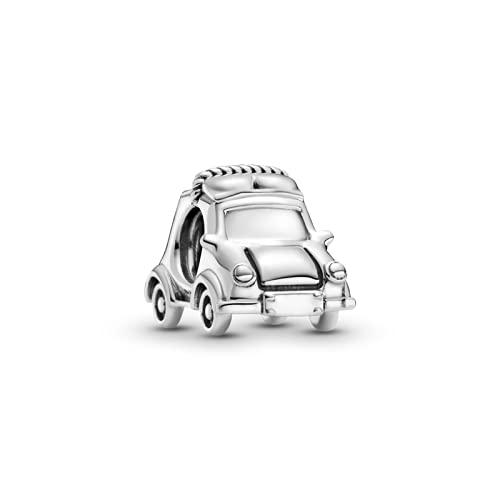 ZHANGCHEN 925 Plata esterlina Coche eléctrico abalorio Encanto Original Pandora Pulsera Collar 925 joyería
