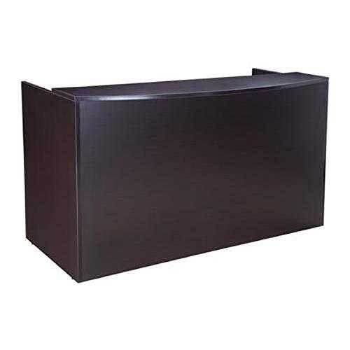 BOSS Reception Desk, 71 x 30/36 x 42, Mocha