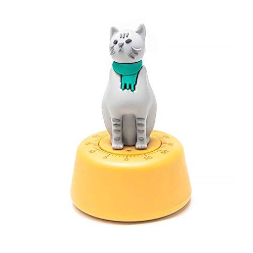 XKMY Temporizador para lecciones con diseño de gato perezoso, temporizador mecánico para cocina, temporizador de cocina (color: amarillo)