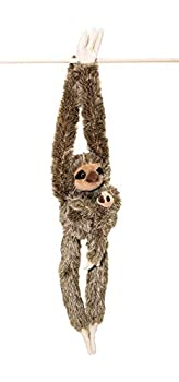 Edgewood Toys 32-Inch Hanging Sloth Stuffed Animal with Baby - Ultra Soft Plush Design with Hands and Feet That Connect - Realistic & Cute Sloth Toy - Bring These Popular Sloths Home to Kids Ages 3+