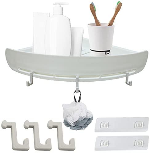 JXUN Organizador de ducha para colgar en la esquina del baño, estante de la esquina de la ducha, autoadhesivo, cesta de almacenamiento para ducha, cesta de almacenamiento para ducha, baño y cocina