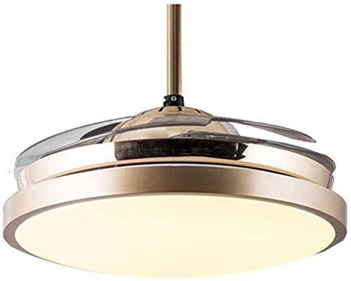 Een verborgen ventilator draait een Europees restaurant Kamer geluiddemper Sunset House Restaurant Simple Modern LED-verlichting met een ventilator