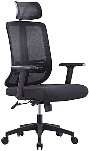 Silla de oficina, silla ejecutiva para el personal, puede levantar silla ergonómica, naranja, negro, color: naranja (color: negro)