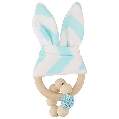 Houten handgemaakte bonte kralen haazenoren kinderziektes ring sensory speelgoed hanging decor voor baby peuters cadeau
