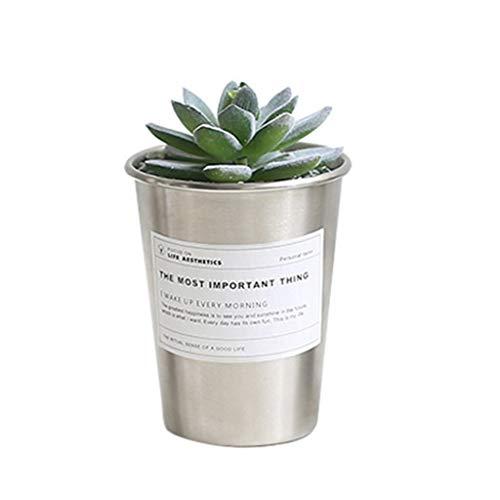 Macetero de hierro vertical con diseño de cactus vintage de metal nórdico Shabby Chic para el hogar, jardín, bonsái, planta suculenta