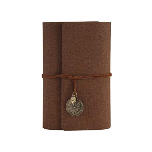 Cuaderno de viaje A6 de hojas sueltas de piel sintética para diarios, almohadilla de rasguños, notas, lista de tareas