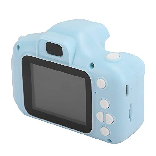 Cartoon Children Camera Intelligence Digital Video Cameras for Toddler One-Touch Smart Focus Gift Camera with with Lanyard Suitable for Children of All(Blue-General Purpose)